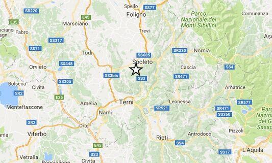 INGV / Terremoti in tempo reale: tre scosse in Umbria, a Spoleto