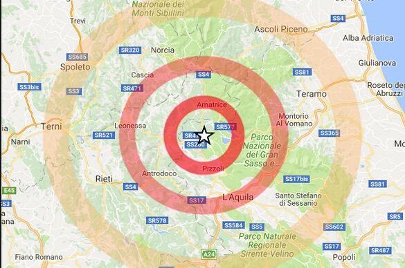 INGV / Terremoto oggi: l'Aquila trema all'alba. Scossa di M 3.9