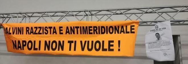Napoli. Occupazione anti Salvini alla Mostra d'Oltremare