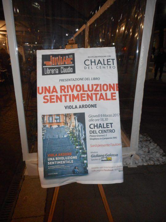 """""""Una rivoluzione sentimentale"""" allo Chalet di Giugliano, quando il romanzo incontra la realtà"""