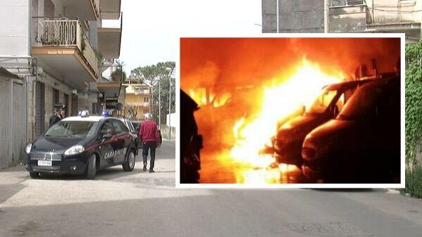 Notte di terrore a Marano, rubano il mezzo dei rifiuti e lo incendiano