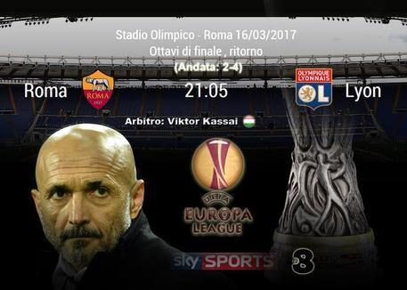 Dove vedere Roma – Lione in tv: in chiaro su tv8, diretta streaming