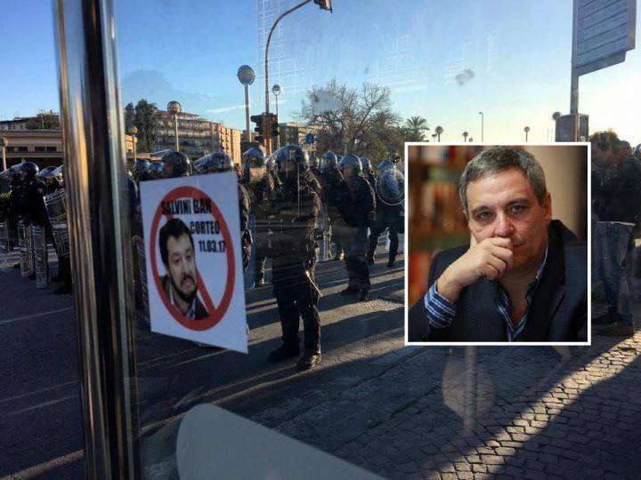 """Salvini a Napoli, lo scrittore De Giovanni: """"Duecento violenti su migliaia di manifestanti"""""""