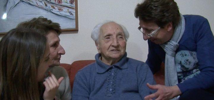I 100 anni della signora Santina