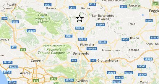 Terremoto oggi, piccola scossa a Benevento nella notte