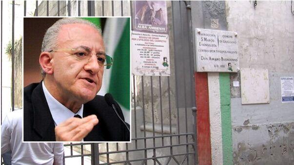 """Ragazzino violentato a Giugliano, De Luca: """"Fenomeno grave"""""""