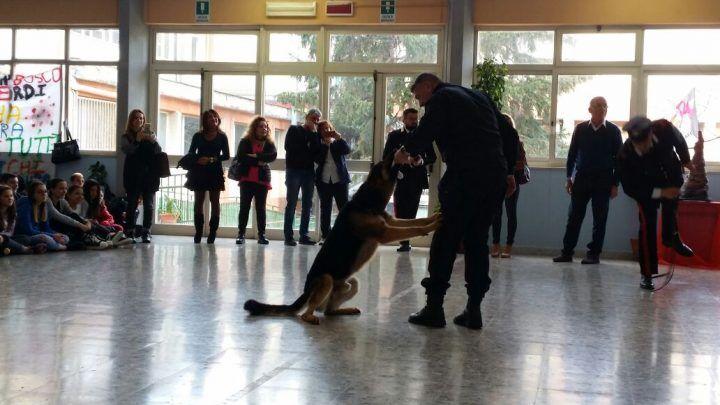 Qualiano, progetto legalità: unità cinofile all' Istituto Don Bosco-Verdi