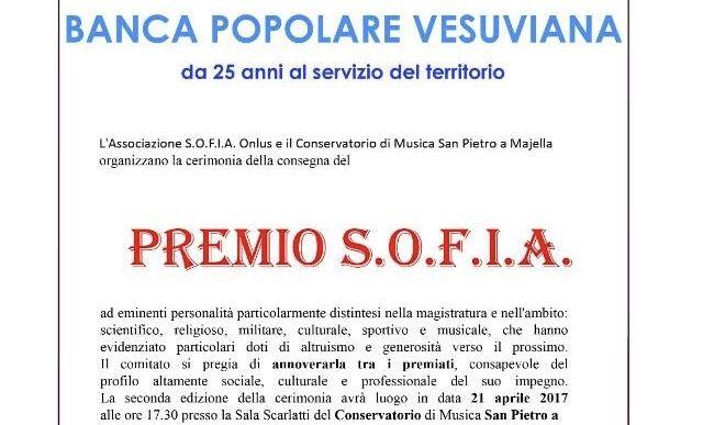 Alla Banca Popolare Vesuviana il Premio Sofia
