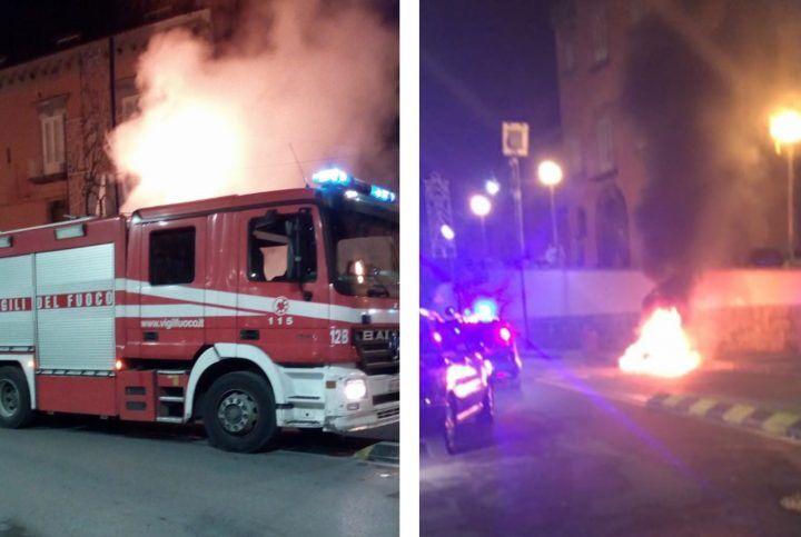 Sant'Antimo, paura in piazza: sul posto carabinieri e vigili del fuoco