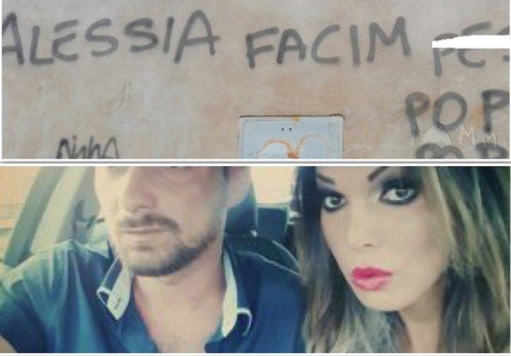 """Alessia Cinquegrana, scritte omofobe stile """"Gomorra"""" sulle mura del Comune"""