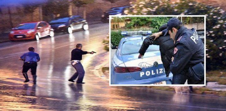 Salerno, litiga con la compagna e minaccia di morte i poliziotti: arrestato