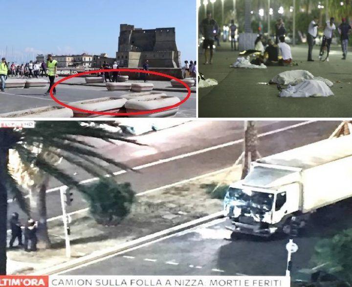 Napoli come Nizza: spuntano barriere di cemento anti-attentati