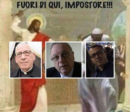 """Vignetta contro Papa Francesco condivisa da Grauso. Don Angelo: """"Il rispetto prima di tutto"""""""