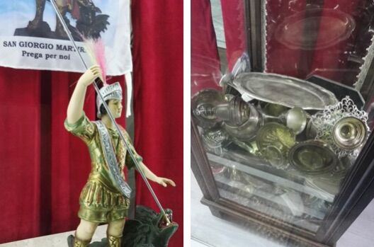 Trentola-Ducenta, raccolta di argento tra i devoti per il nuovo elmo di San Giorgio Martire