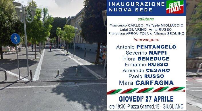 Giugliano, giovedì l'inaugurazione della nuova sede di Forza Italia con Mara Carfagna