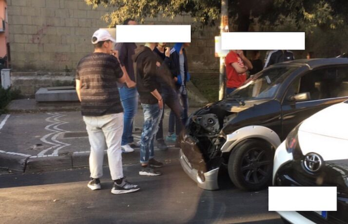 Giugliano, incidente in mini car su Corso Campano