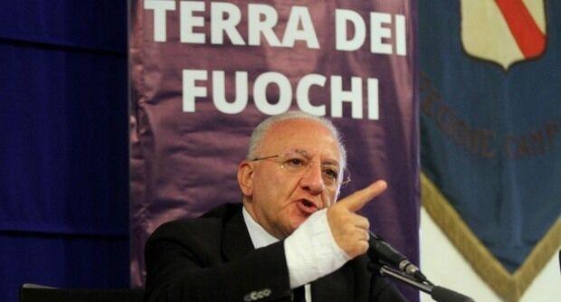 """Terra dei Fuochi, De Luca: """"Pronti ad investire per i droni"""""""