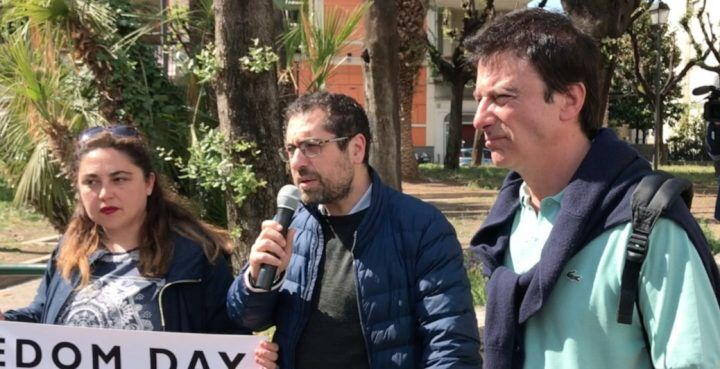 Aversa, sit-in per giornalisti aggrediti