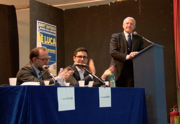 """De Luca a Sant'Antimo: """"Un milione di euro per via Appia"""""""