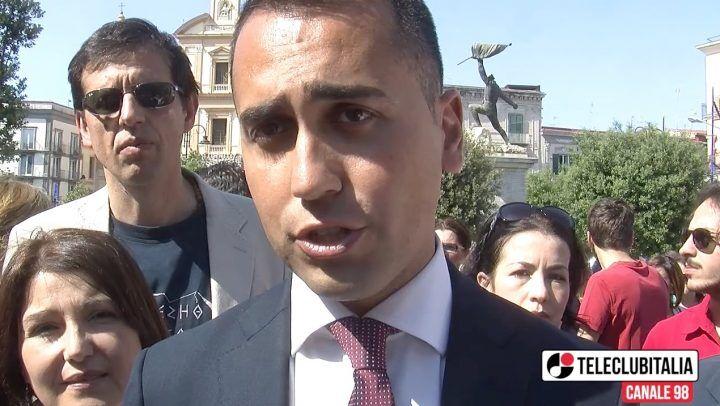"""M5S, Di Maio a Sant'Antimo per Chiantese: """"Migranti? Aiutiamoli a casa loro"""""""