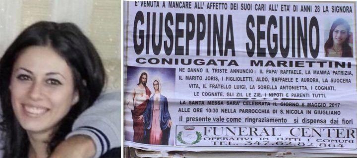 Giugliano, i funerali di Giusy Seguino alla Chiesa di San Nicola