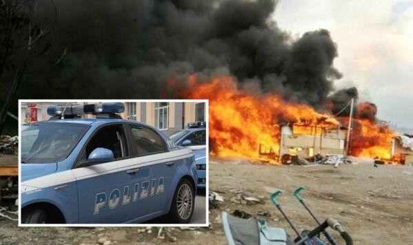 Incendio al campo rom di Scampia, baracche in fiamme: due intossicati