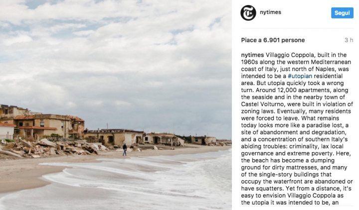 """Villaggio Coppola finisce sul New York Times: """"Un paradiso perduto, concentrazione di problemi del Sud"""""""