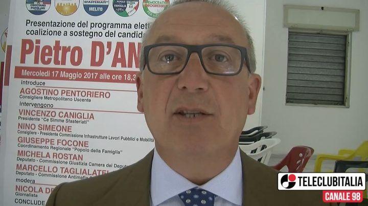Melito, Pietro D'Angelo apre la campagna elettorale