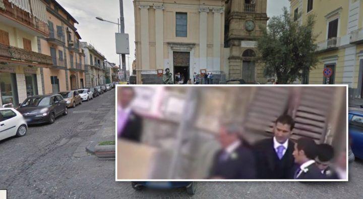 Matrimonio di camorra a Giugliano, in Chiesa con il boss dei Mallardo c'è Pino Taglialatela. VIDEO