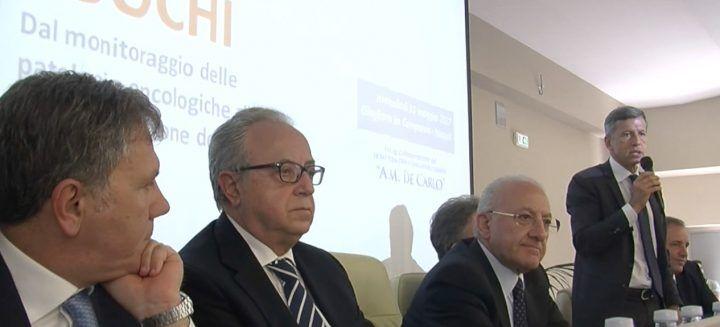 Giugliano, presentato il registro tumori con il presidente De Luca