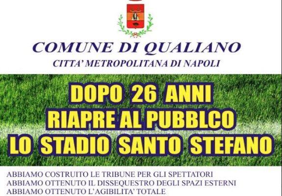Qualiano, agibilità ed il dissequestro degli spalti: riapre lo stadio Santo Stefano