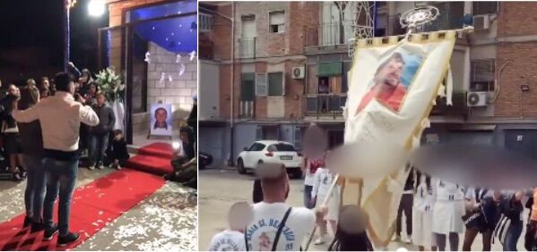 Rione Traiano, inchino nella festa della Madonna per il giovane ucciso in un agguato