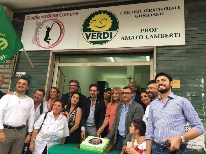 """Giugliano, nuova sede dei Verdi dedicata ad Amato Lamberti. """"Pronti ad entrare in giunta con Poziello"""""""