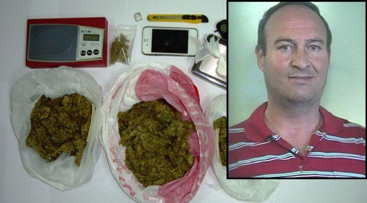 Sorpreso con hashish e marijuana: arrestato 45enne
