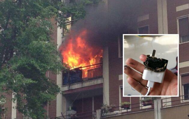 """""""Caricabatterie difettoso"""", casa in fiamme: paura nel casertano"""