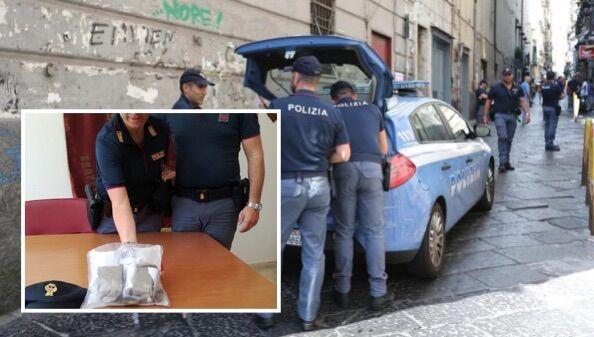 Napoli, tentano la fuga su Corso Garibaldi: arrestati 3 nordafricani con un chilo di droga