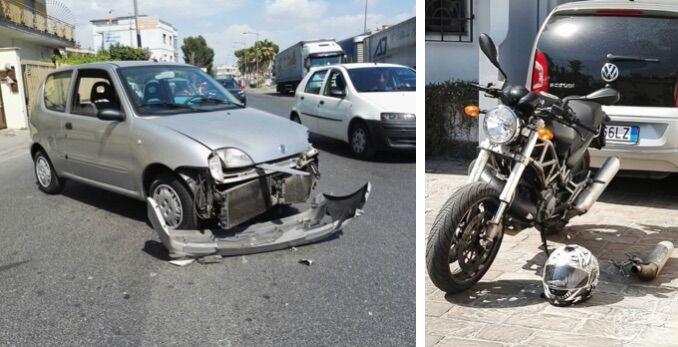 Incidente a Villaricca, scontro auto moto nei pressi del cimitero