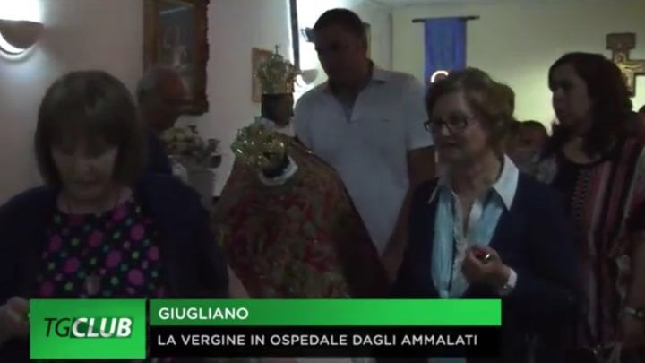 La Madonna della Pace visita l'ospedale di Giugliano