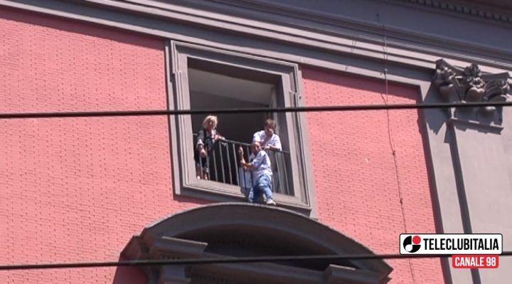 Napoli, tensioni al centro per la protesta dei Cub