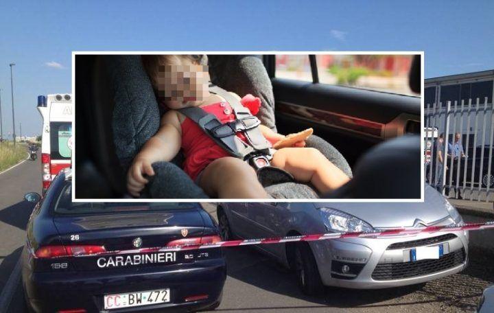 Dimenticata in auto, bimba muore