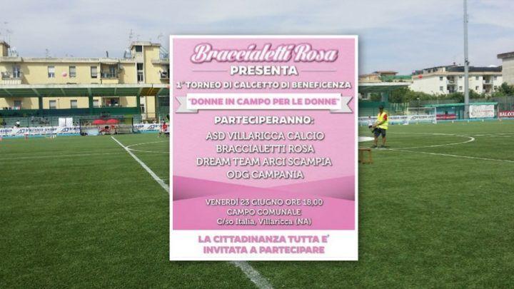 Villaricca, torneo di beneficenza: in campo per raccogliere fondi per donne malate di cancro