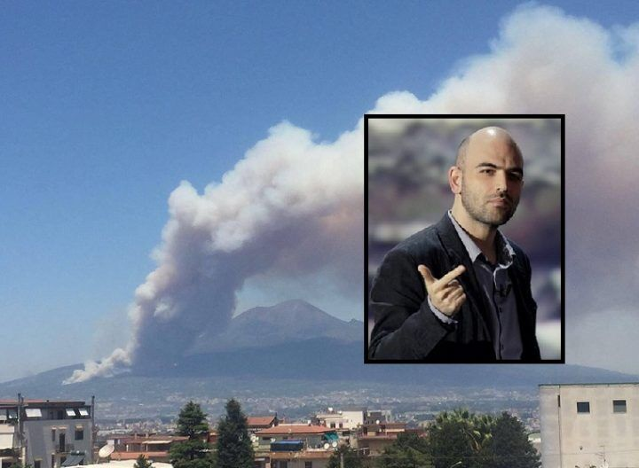 """Fiamme sul Vesuvio, c'è di mezzo la camorra. Saviano: """"Ecco la verità"""""""