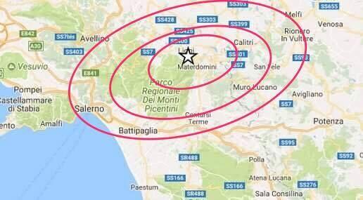 Campania, terremoto in Irpinia: scossa di magnitudo 2.7 avvertita dai residenti