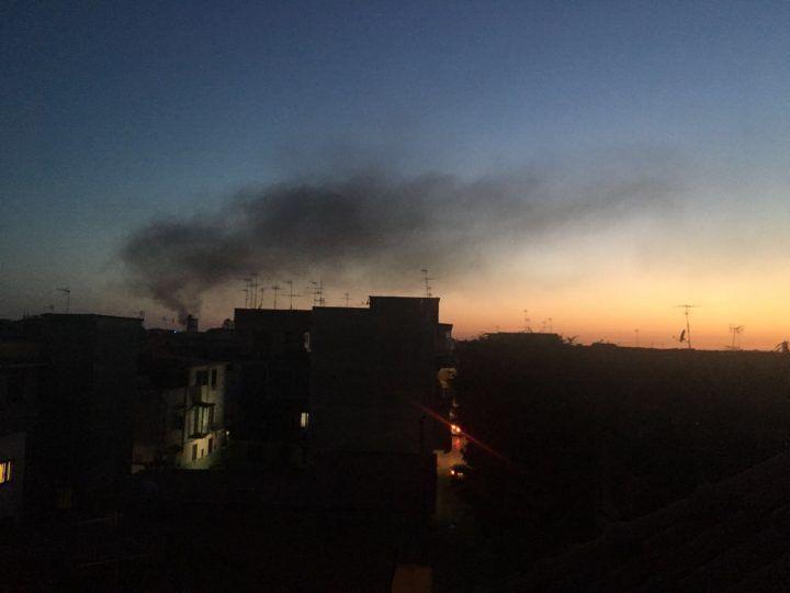 Nube tossica sull'area nord di Napoli