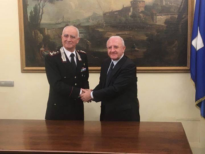 Patto tra Regione e Carabinieri per la Terra dei Fuochi