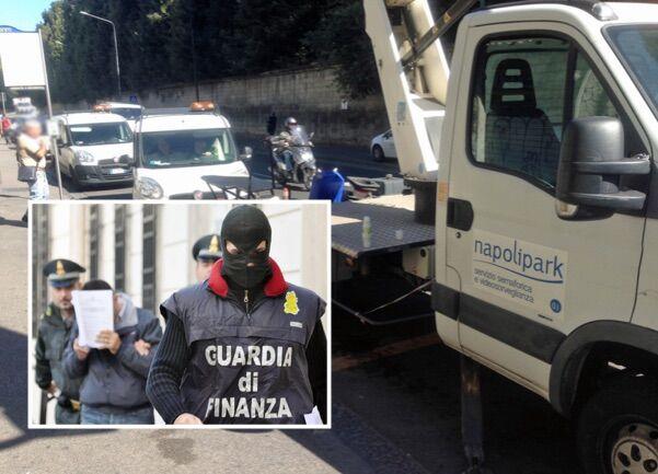 Scandalo Napoli Park, 2 arresti. Ausiliario traffico al servizio del capo: danni per 60mila euro