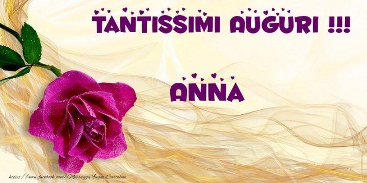 Favorito Anna, auguri di buon onomastico: frasi, immagini, gif e video  MS04