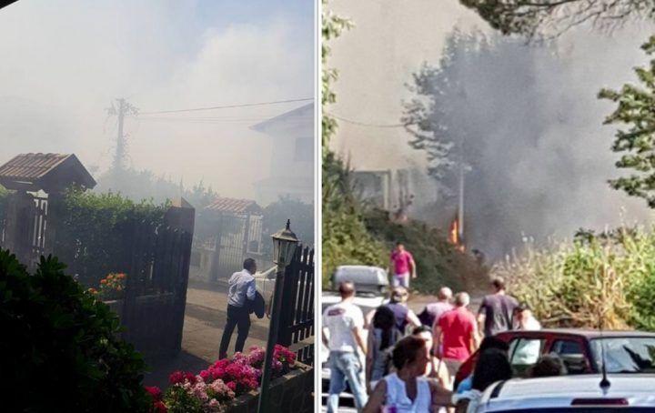 Emergenza incendi, paura a Licola: gente lascia le case e si riversa in strada