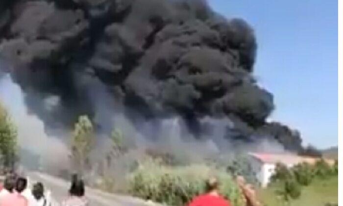Sito di rifiuti in fiamme nel Casertano: alte concentrazioni di diossina nell'aria
