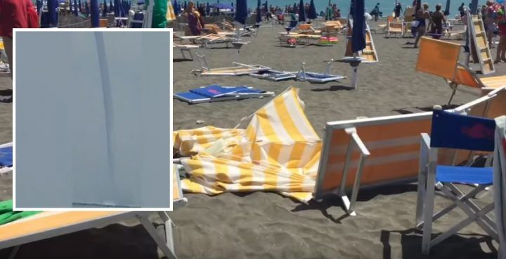 Ostia terribile tromba d'aria in spiaggia 10 feriti. VIDEO